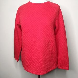 J.Jill Red Pullover Thick Long Sleeve Top